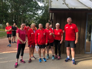 Some CMRC runners, rocking the red!