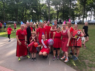 Our Hasher friends love any excuse to wear their red dresses!
