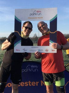 Photo of Richard Aquilina and friend Martyn at Gloucester North parkrun