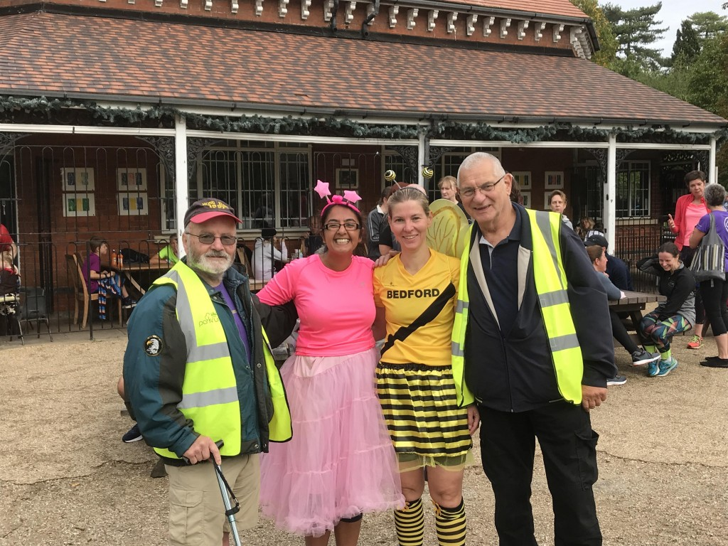 Any (left) is our most prolific volunteer at Bedford parkrun, despite having never run the course himself. This week was his 243rd occasion volunteering with us.