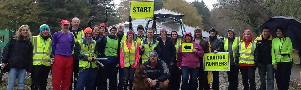 Some of the volunteers from the very first Gnoll parkrun.