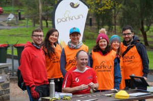 Volunteers at Studley parkrun