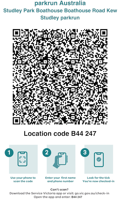 QR Code for Contract Tracing