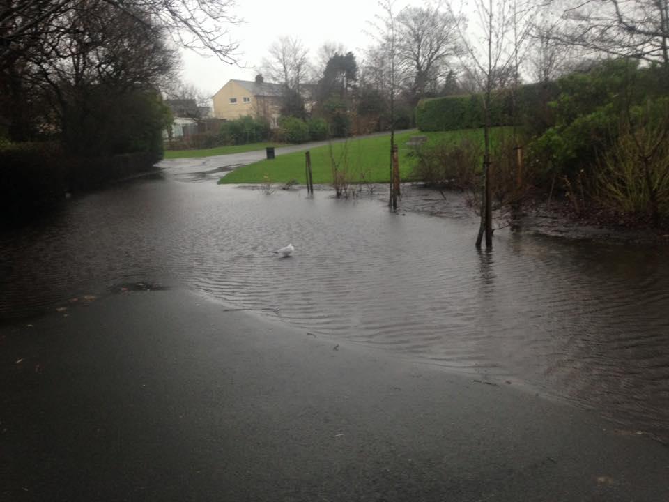 Barrow course flooding