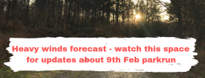 Heavy winds forecast - watch this space for updates