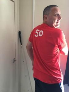 Simon Goodall 50th parkrun Oct 18