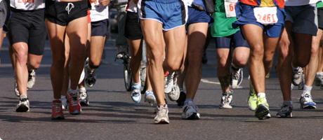 Photo of runners during a London Marathon event